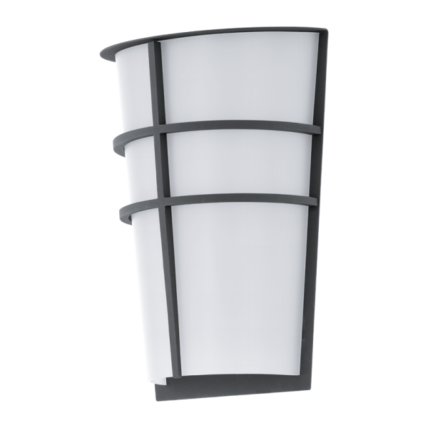 Eglo Breganzo Led 2 Light Wall Fixture Platinum Imports