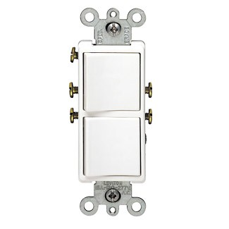 Leviton decora 15 amp 2 gang single pole switch 120277v 5634 2w sciox Choice Image