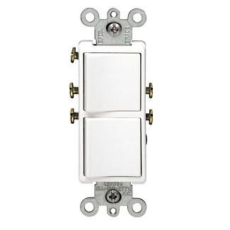 Leviton Decora 15 Amp 2 Gang Single Pole Switch 120 277v