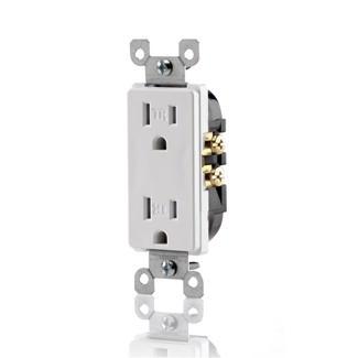 Leviton decora 15 amp tamper resistant duplex receptacle 125v home3 product categories sciox Choice Image