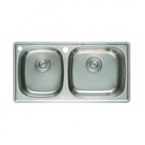Terrific Cae Top Mounted Double Bowl 21 Gauge T304 Grade Stainless Home Interior And Landscaping Palasignezvosmurscom